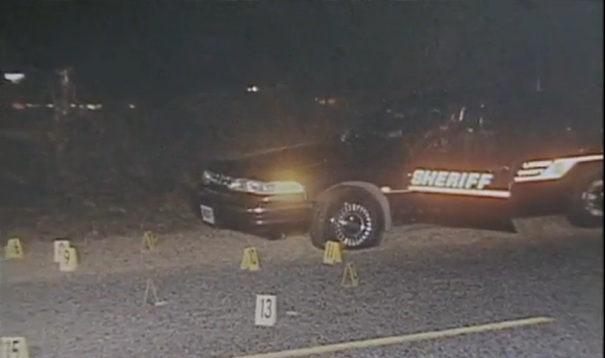 Deputy Dinkheller's patrol car after the gunfight.