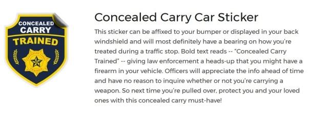 CCW sticker